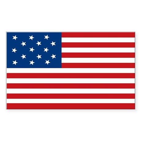 Star-Spangled Banner Flag Rectangle Sticker