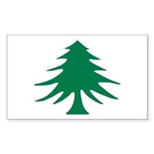 Pine (Liberty) Tree Flag Rectangle Decal