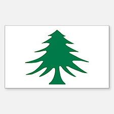 Pine (Liberty) Tree Flag Rectangle Decal