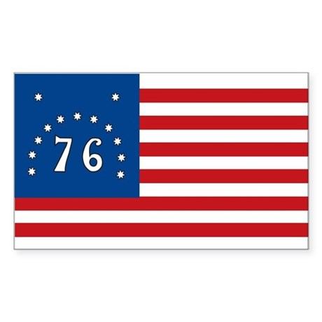 Bennington Battle Flag Rectangle Sticker