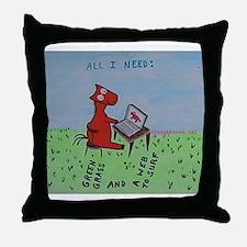 computer horse Throw Pillow