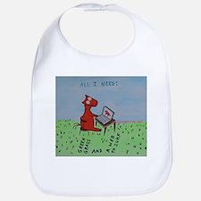 computer horse Bib