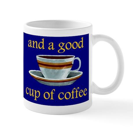 Jesus and Coffee (Blue) Mug