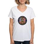 U S Customs Berlin Women's V-Neck T-Shirt