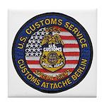 U S Customs Berlin Tile Coaster