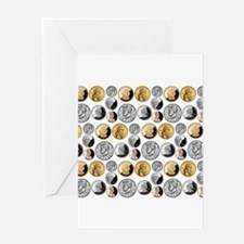 Just Coins Greeting Card