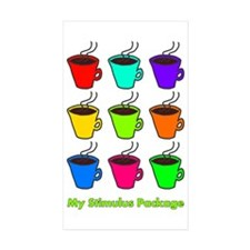 My Stimulus Package Rectangle Sticker 50 pk)