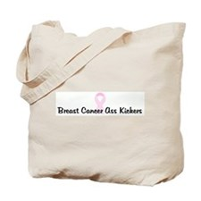 Breast Cancer Ass Kickers pin Tote Bag