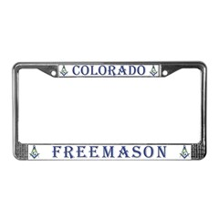 Colorado Masons License Plate Frame