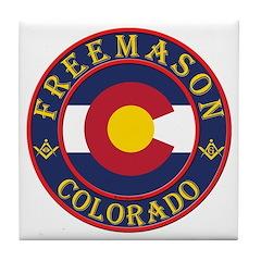 Colorado Masons Tile Coaster