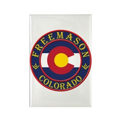 Colorado Masons Rectangle Magnet (10 pack)