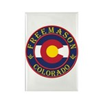 Colorado Masons Rectangle Magnet (100 pack)