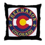 Colorado Masons Throw Pillow