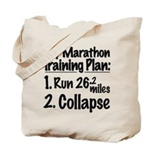 My Marathon Training Plan Tote Bag