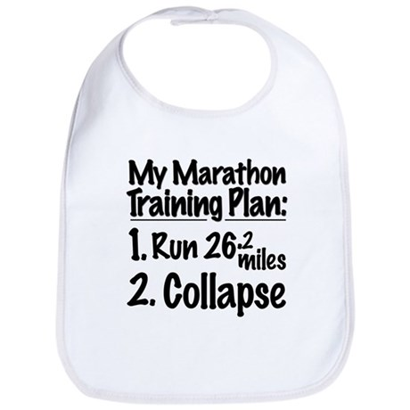 My Marathon Training Plan Bib