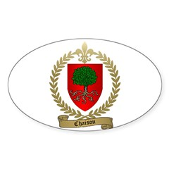 CHAISON Family Crest Oval Decal