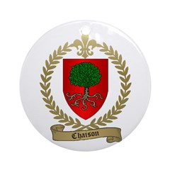 CHAISON Family Crest Ornament (Round)