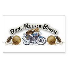 Dung Beetle Biker Decal