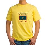 Guamanian boyfriend Mens Classic Yellow T-Shirts