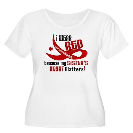I Wear Red Sister Heart Disease Shirt Women's Plus