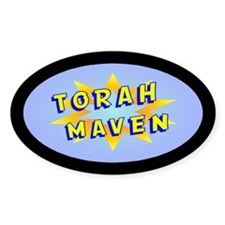 Torah Maven Oval Decal