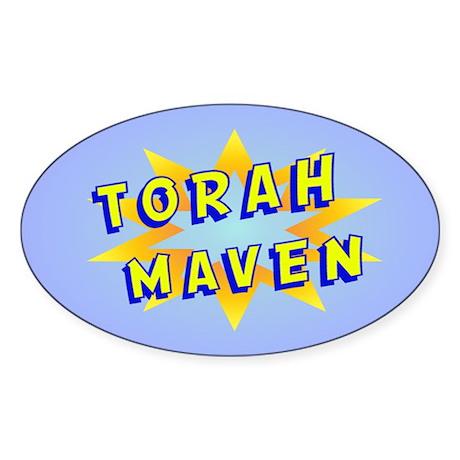 Torah Maven Oval Sticker