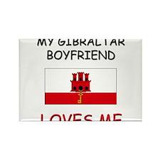 My Gibraltar Boyfriend Loves Me Rectangle Magnet