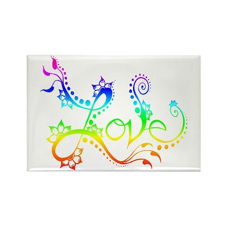 Love /rainbow Rectangle Magnet