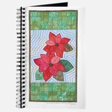 Cute Poinsettia quilt Journal