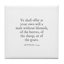 LEVITICUS  22:19 Tile Coaster