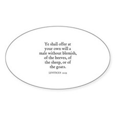 LEVITICUS 22:19 Oval Decal
