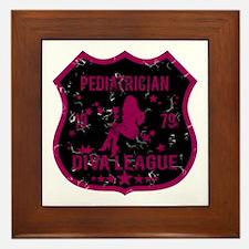 Pediatrician Diva League Framed Tile