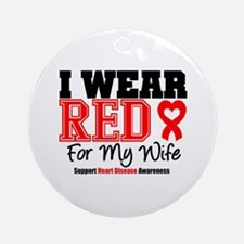 I Wear Red Wife Ornament (Round)