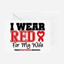 I Wear Red Wife Greeting Card
