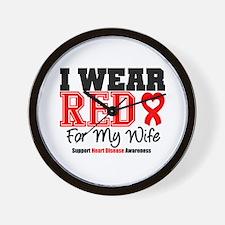 I Wear Red Wife Wall Clock
