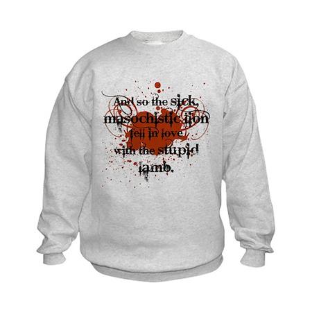 Sick Masochistic Lion Kids Sweatshirt