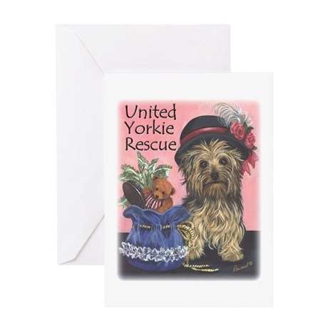 United Yorkie Rescue Greeting Card