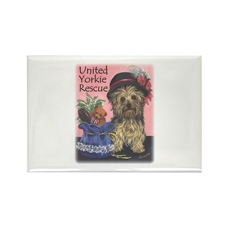 United Yorkie Rescue Rectangle Magnet