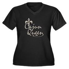 Cajun Queen Fleur De Lis Women's Plus Size V-Neck