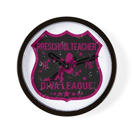 Preschool Teacher Diva League Wall Clock