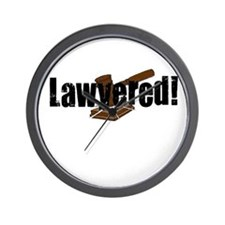Lawyered! Wall Clock