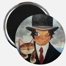 cat art Margritte Magnet