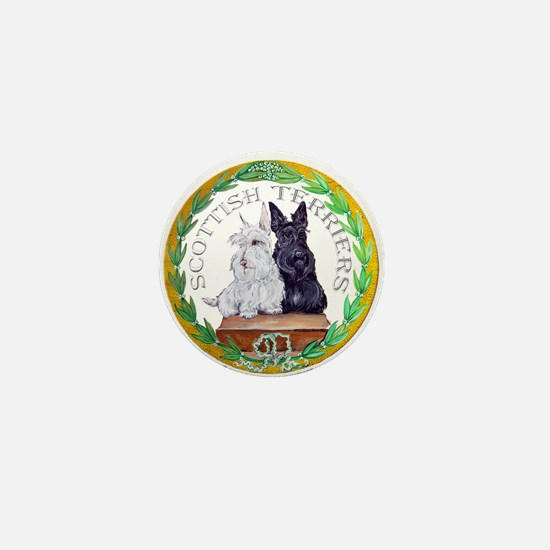 Scottish Terrier Crest Mini Button