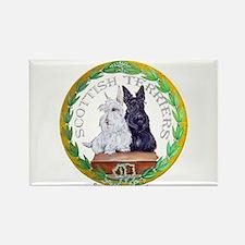 Scottish Terrier Crest Rectangle Magnet