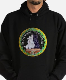 Scottish Terrier Crest Hoodie (dark)
