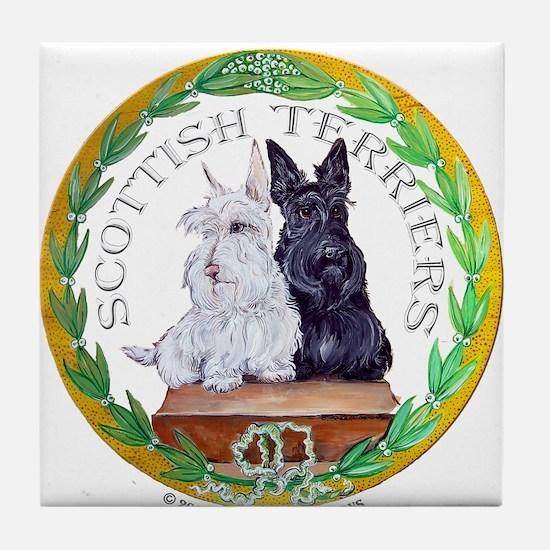 Scottish Terrier Crest Tile Coaster
