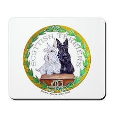 Scottish Terrier Crest Mousepad