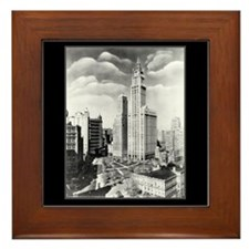 Vintage 1939 New York Photograph Framed Tile
