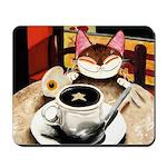 cat art lucky star Mousepad