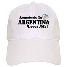 Somebody In Argentina Loves Me Baseball Cap